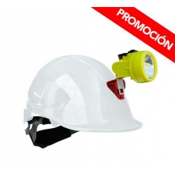 Kit Lámpara Minera KL 3500 + Casco ABS Amarillo C/Portalamparas