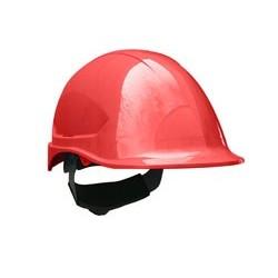 Casco steelpro ABS MTA rojo con Barbiquejo