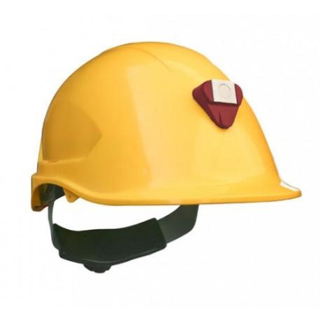 Casco Steelpro MTA con Porta lámparas Amarillo