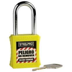Candado Steelpro X10 amarillo