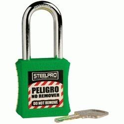 Candado Steelpro X10 verde