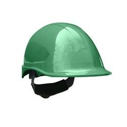 Casco steelpro ABS MTA verde con Barbiquejo