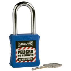 Candado Steelpro X10 azul