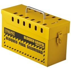 Caja de Bloqueo Grupal Amarilla